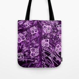 Mosaic of Owls V2 Purple Tote Bag