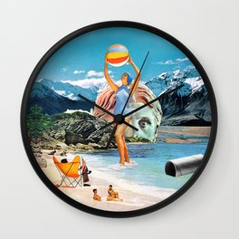 Poseidon in Love Wall Clock