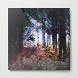 Shadows In The Forest Metal Print