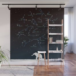 Falling star constellation Wall Mural