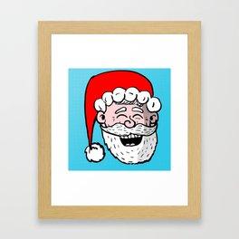 Laughing Santa Framed Art Print