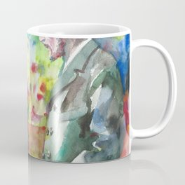 MARIE and PIERRE CURIE - watercolor portrait Coffee Mug