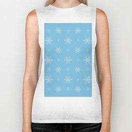 Snowflakes pattern Biker Tank