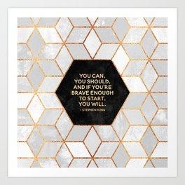 If you're brave enough / Design Milk Collab. Art Print
