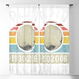 Never Forget Pluto Space Science Graphic Retro Blackout Curtain