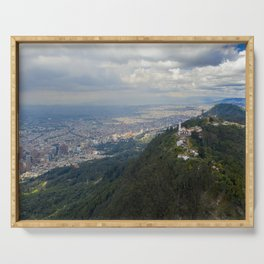 Cerro de Monserrate from on high Serving Tray