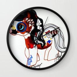 Native American War Paint Pony Wall Clock