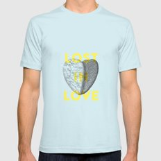 Lost in love Light Blue SMALL Mens Fitted Tee