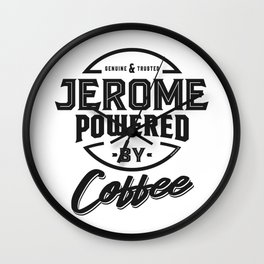 Jerome Powered by Coffee Wall Clock