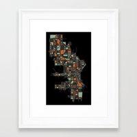 milwaukee Framed Art Prints featuring Milwaukee by BigRedSharks