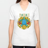 hawaii V-neck T-shirts featuring Hawaii by Renee Ciufo