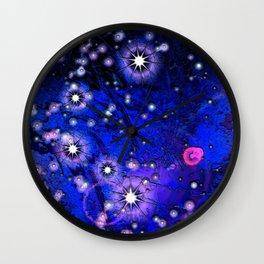 Novas Ultramarine Blue Wall Clock