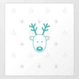 Blue-nosed Reindeer Art Print