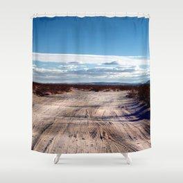 Desert Road at Joshua Tree Shower Curtain