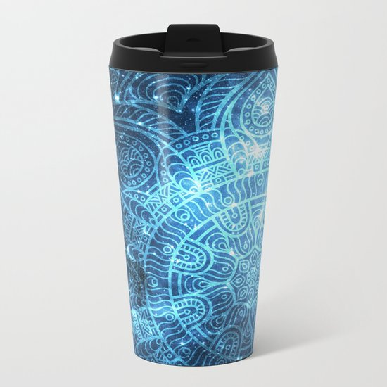 Space mandala 8 Metal Travel Mug