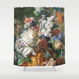 Bouquet of Flowers - Jan van Huysum Shower Curtain
