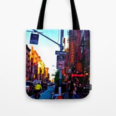 Sun Goes Down  in the City Tote Bag