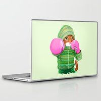 boxing Laptop & iPad Skins featuring BOXING CAT 4 by Tummeow