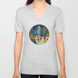 Welcome to Our Place in the Woods Unisex V-Neck
