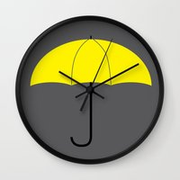 himym Wall Clocks featuring HIMYM - The Mother by Raye Allison Creations