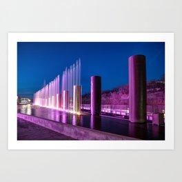 The Fountains at Branson Landing - Dusk Light Art Print