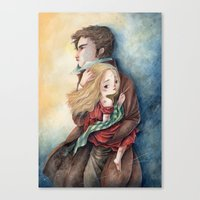 les miserables Canvas Prints featuring les miserables by Fabiana Attanasio