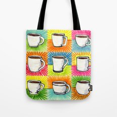 I drew you 9 little mugs of coffee Tote Bag