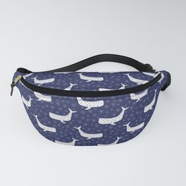 Whales - blue & white Fanny Pack