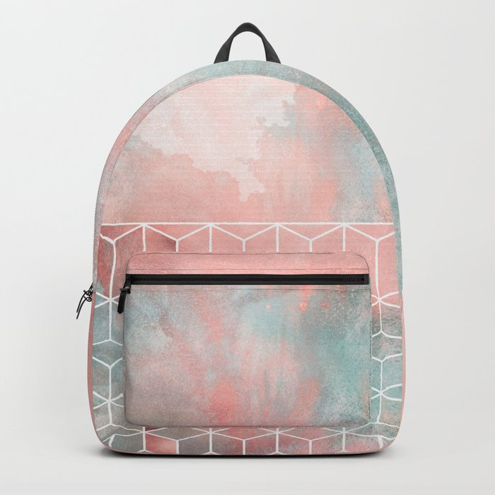 Rose Clouds And Cubes Backpack