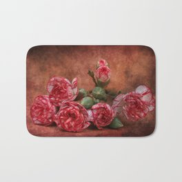 Carnation flowers Bath Mat