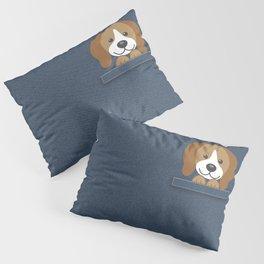 Beagle in a Pocket Pillow Sham