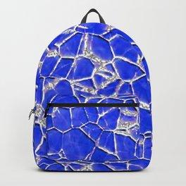 Blue broken glass texture Backpack