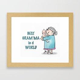 Best Granny Framed Art Print