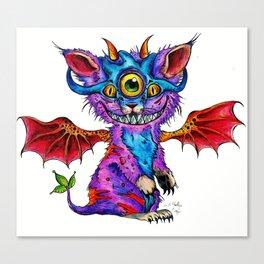 Fluffy Mind Creature  Canvas Print