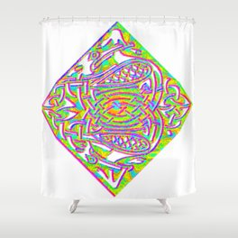 celtic knotted diamond Shower Curtain