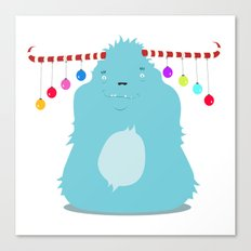 December Monsters: Merry and Bright Canvas Print