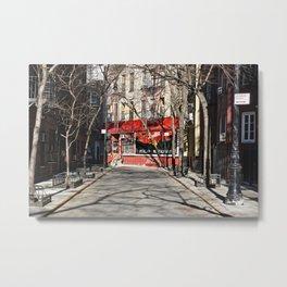 Greenwich Village street in winter Metal Print