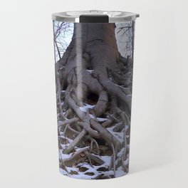 Poplar Tree in Early Spring Travel Mug