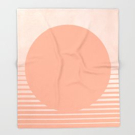 The Sweet Life Collection - Peach Coral Sun Gradient Throw Blanket