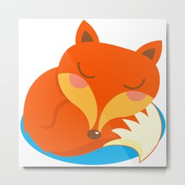 shhh... Fox is sleeping. Metal Print