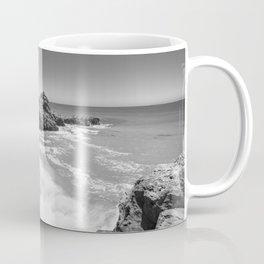 Waves crash along Rancho Palos Verdes coastline Coffee Mug