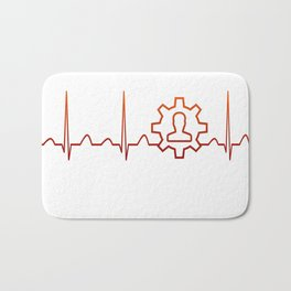 Machine Operator Heartbeat Bath Mat