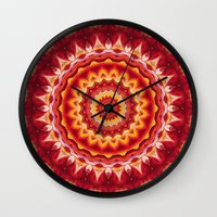 georgia Wall Clocks featuring Georgia by Mr. Pattern Man