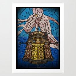 Dalek stained glass Art Print