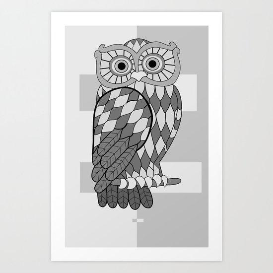 The Wide Awake Owl Art Print