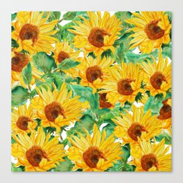 sunflower pattern Canvas Print