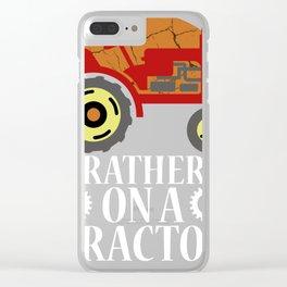 Tractor Farmer Gift Shirt Farmer Trecker Cool Clear iPhone Case