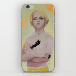 super yellow kid iPhone Skin