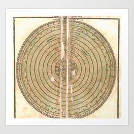 Pietro Coppo - Spheres of the World 1525 Art Print