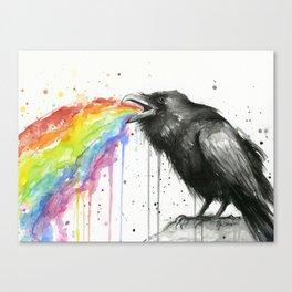 Raven Tastes the Rainbow Canvas Print